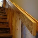 Carriage House Pine Wainscott and Handrail