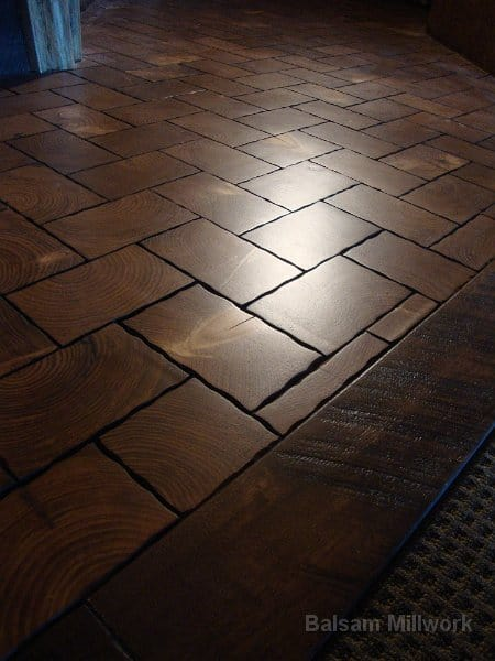 Coble_Stone_Pine_Block_Flooring_with_a_Hickory_Border