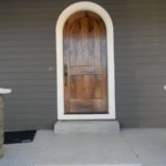 Custom Walnut Arched Entry Door