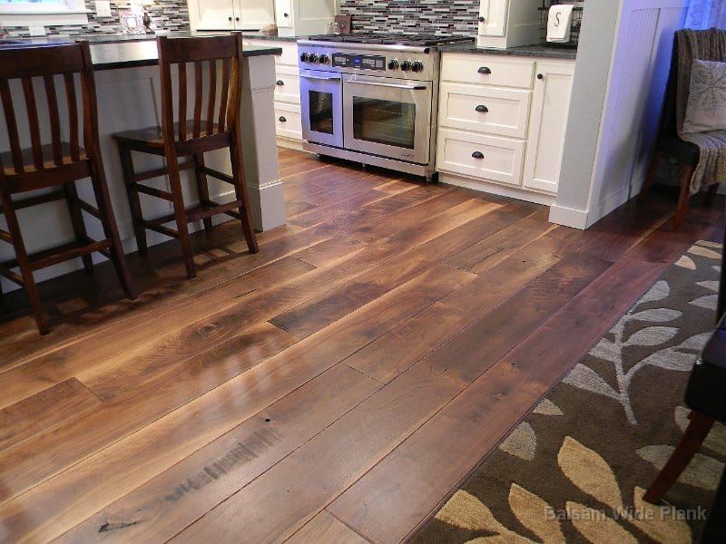 Wide Plank and Long Length Walnut Floor