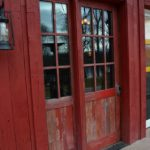 Reclaim Faded Red Exterior Door with Side Light